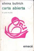 Carta Abierta Silvina Bullrich Año Year 1969 Paginas Pages 112 Editorial Emece Mjl - Fantasy