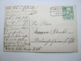 1910 , TIMELKAM    , Klarer Stempel Auf Karte - Briefe U. Dokumente