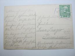 1914 , Ca., HOSTYM  - Hostein       , Klarer Stempel Auf Karte - Briefe U. Dokumente