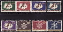Paraguay #752-59 F-VF Mint NH ** Winter Olympics - Winter 1964: Innsbruck