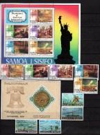 Samoa 1976 Michel 328-345, Block 10-12 US Bicentennial, Fishing, Olympic Montreal, Christmas 17 Stamps + 3 S/s MNH - Samoa
