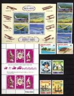 Samoa 1978 Michel 366-379. 395-398, Blk 15-17 Aviation, WWF, Silver Coronation, James Cook, Etc. 20 Stamps + 3 S/s MNH - Samoa