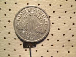 FRANCE 1 Franc 1943  1.30 G - H. 1 Franc