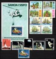 Samoa 1979 Michel 399-412, 415-422, Block 18-20 Ships, Space, IYC, Rowland Hill, Christmas 22 Stamps + 3 S/s MNH - Samoa