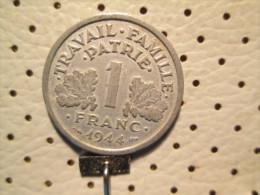 FRANCE 1 Franc 1944  C  1.26 G - H. 1 Franc