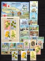 Samoa 1981 Michel 446-472, Block 25-26 Ships, Int.Year Of Disabled, Tourism, Royal Wedding, Etc. 26 Stamps + 2 S/s MNH - Samoa