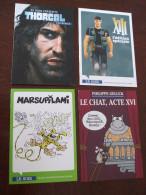 4 Carte Bd # XIII # Thorgal # Le Chat # Marsupilami # A Voir - Cartes Postales