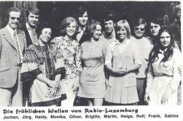 Die Fröhlichen Wellen Von Radio Luxemburg - Werbepostkarten