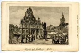 Delft, Markt Met Stadthuis,  Ca. 1905 - Delft