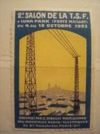 T.S.F . 2e SALON DE LA TSF. LUNA PARK (PORTE MAILLOT) 1925 . SYNDICAT PROFESSIONNEL DES INDUSTRIES RADIO-ELECTRIQUES * - Erinofilia