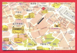 159625 / ROMA / ROME - MAP - HOTEL DA VINCI - 00184 ROMA ITALIA VIA NAZIONALE 251 Italia Italy Italie Italien - Santé & Hôpitaux