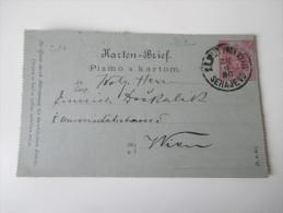 Österreich / Bosnien U. Herzegowina 1886 Kartenbrief K 5 Mit Stempelfehler / Setzfehler!! Serajevo!! Toller Beleg!!! - Bosnien-Herzegowina