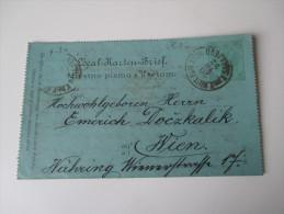 Österreich / Bosnien U. Herzegowina 1892 Kartenbrief K 3 K.K. Milit. Post Sarajevo - Wien. Zusatzfrankatur Abgelöst. - Bosnien-Herzegowina