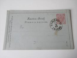 Österreich / Bosnien U. Herzegowina 1888 Kartenbrief K 1. K.K. Milit. Post XX Zwornik. - Bosnien-Herzegowina