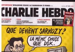 Journal Charlie Hebdo N° 1051, 8 Août 2012, « Que Devient Sarkozy ? », DSK, Dessin De RISS - Humour