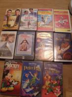 Cassette Vhs Disney,la Mélodie Du Bonheur,titanic, Lucky Luke, - Enfants & Famille