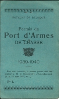 Permis de Port d'Armes de chasse 10939-1940 : HOUSSA Octave, Ing�nieur - BRUXELLES