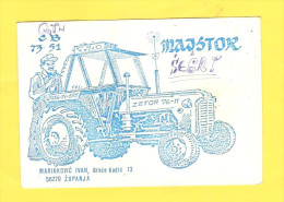 Postcard - QSL Radio Amateur Postcard, Croatia, Županja, Zetor Tractor      (V 23708) - Radio Amateur