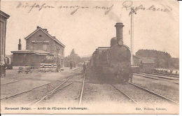 MORESNET GARE AVEC LOCOMOTIVE Station écrite 30/08 Feldpostkarte Re 261 - Lontzen