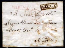Lecce-00384 - Piego (senza Testo) Del 28 Agosto 1817 - - Italia