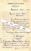 CHEMINS  DE  FER  DE  L´ETAT  -    CHATEAUBRIANT -    Accident De Travail De Mr REHAUT  Ajusteur  Blessé Le 15 Nov 1912 - Alte Papiere
