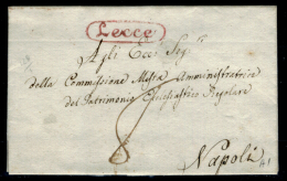 Lecce-00385a - Piego (senza Testo) Del 24 Marzo 1830 - - Italia
