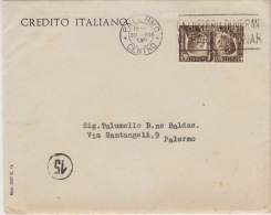 Cover Lettera-Affr.cm.10 Perfin Alleanza Palermo 30.8.34-Viaggiata Italy Italia - Poststempel