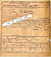 CHEMINS  DE  FER  DE  L´ OUEST -  CHATEAUBRIANT -  Déclaration D'expédition Pour Les Transports à Grande Vitesse - 1908 - Non Classés