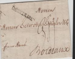 Sch001/  SCHLESWIG-HOLSTEIN - Flensburg Unter Dänischer Oberhoheit 1789 Nach Bordeaux, Franco Hamburg - Duitsland
