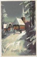 Joyeux Noël. Vieille Dame Sur Le Chemin De L'église Enneigée. - Autres