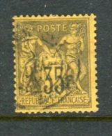N° 93 Oblitéré Cachet à Date - 1876-1878 Sage (Type I)
