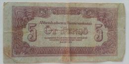 UNGHERIA 5 PENGO 1944 VG - Ungheria