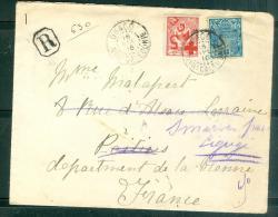 Lettre Recommandée De Ouaco Pour Poitiers ( France ) En 1916 Yvert N°110 ET N°95  - Rare Combinaison Malb16010 - Briefe U. Dokumente