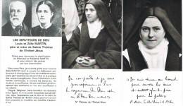 Lisieux- 3 Images Sainte Thérèse Et Ses Parents -avec Prières - Images Religieuses