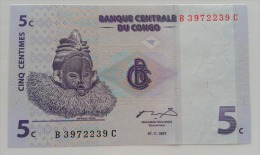 CONGO 5 CENTIME 1997 UNC - Congo