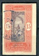 """DAHOMEY / AFRIQUE OCCIDENTALE FRANÇAISE  1913 - 1917   -  """" YVERT N°48 A """" -  1  VAL. NON - DENT. - Dahomey (1899-1944)"""