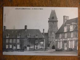 LONLAY-L´ABBAYE (61) - La Mairie Et L'église - Otros Municipios