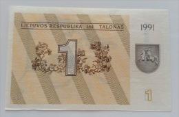 LITUANIA 1 TALONAS 1991 UNC - Lituania