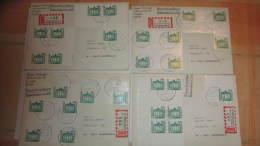 """7 Einschreibbriefe  V. 31.12.91 BM Aus Bogen Mit Zwfelder, Seltene ES-Marke Mit """"O""""-8019  Letzt. Tag Gültigkeit  DP - Covers & Documents"""