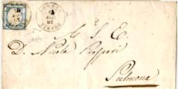 """Loreto-00390 - Piego (senza Testo) - Reca Un Francobollo Da DUE GRANA - Punti 9 - Siglato """"G. Chiavarello"""" E """"Raybaudi"""". - Storia Postale"""