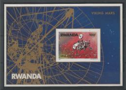 BLOC FEUILLET  DU RWANDA  N� 74 NEUF SANS CHARNIERE  NON DENTELE