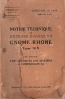 NOTICE TECHNIQUE MOTEUR AVIATION GNOME RHONE TYPE 14N ARMEE AIR AVION MILITAIRE 1939