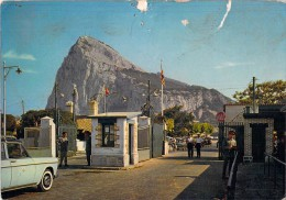 RARE GIBRALTAR FROM THE BRRITISH AND SPANISH FRONTIER GATES THE NORTH VIEW OF THE ROCK - Gibilterra