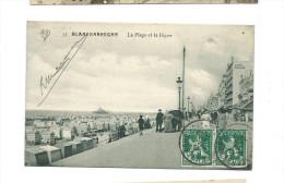 (carte écrite   1913  La Plage Et La Digue - Blankenberge