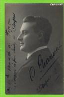 Claude Charmat , 1913-1914 Th�atre Royal d�Anvers  Autographe