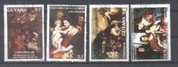 Guyana 1988 Paintings Christmas Used DE.058 - Guyane (1966-...)