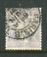 TB N° 95 Cachet à Date PARIS 8 - 1876-1898 Sage (Type II)