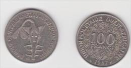AFRICA OVEST 100 FRANCHI ANNO 1987 - Monete
