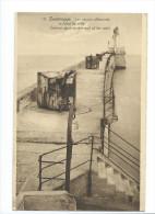 (carte écrite   1945  Les Canons Allemands - Zeebrugge