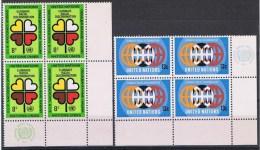 Verenigde Naties New York Y/T 213 / 214 (**) In Blok Van 4. - New-York - Siège De L'ONU